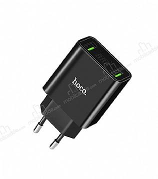 Hoco C25A Dijital Göstergeli Siyah Ev Şarj Adaptörü