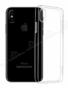 Hoco Light Series iPhone X Şeffaf Silikon Kılıf + Siyah Cam Ekran Koruyucu