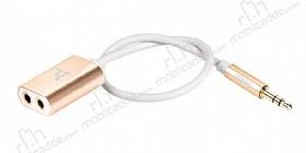Hoco UA1 Alüminyum Gold Kulaklık Çoklayıcı