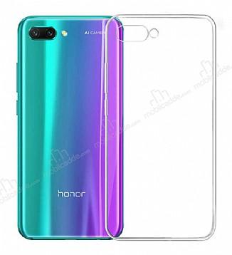 Honor 10 Ultra İnce Şeffaf Silikon Kılıf