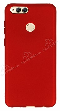 Honor 7X Mat Kırmızı Silikon Kılıf