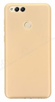 Honor 7X Mat Gold Silikon Kılıf