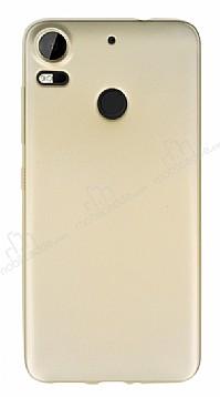 HTC Desire 10 Pro Mat Gold Silikon Kılıf