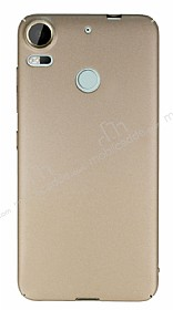 HTC Desire 10 Pro Tam Kenar Koruma Gold Rubber Kılıf