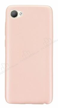 HTC Desire 12 Mat Rose Gold Silikon Kılıf
