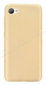 HTC Desire 12 Mat Gold Silikon Kılıf