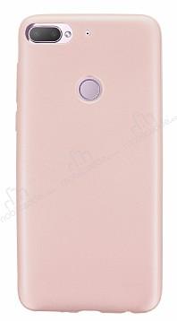 HTC Desire 12 Plus Mat Rose Gold Silikon Kılıf