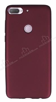 HTC Desire 12 Plus Mat Mürdüm Silikon Kılıf