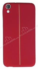 HTC Desire 820 Kadife Dokulu Kırmızı Silikon Kılıf