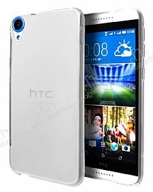 HTC Desire 820 Şeffaf Beyaz Silikon Kılıf