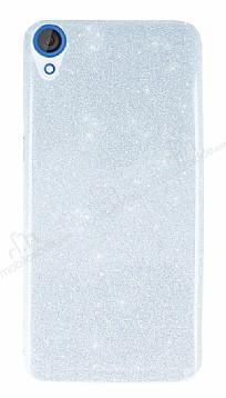 HTC Desire 820 Simli Silver Silikon Kılıf