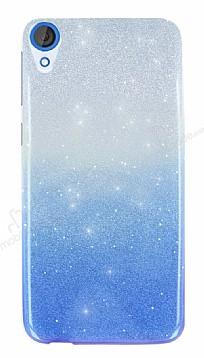 HTC Desire 820 Simli Mavi Silikon Kılıf