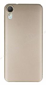 HTC Desire 825 / Desire 10 Lifestyle Tam Kenar Koruma Gold Rubber Kılıf
