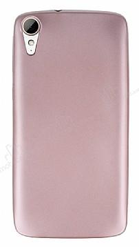 HTC Desire 828 Mat Rose Gold Silikon Kılıf
