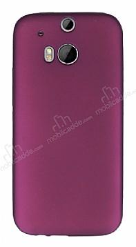 HTC One M8 Mat Mor Silikon Kılıf