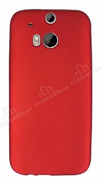 HTC One M8 Mat Kırmızı Silikon Kılıf