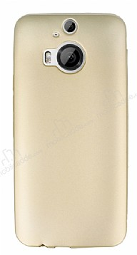 HTC One M9 Plus Mat Gold Silikon Kılıf