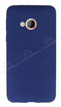 HTC U Play Mat Lacivert Silikon Kılıf
