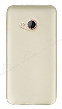 HTC U Play Mat Gold Silikon Kılıf