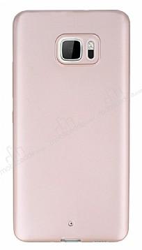 HTC U Ultra Mat Rose Gold Silikon Kılıf