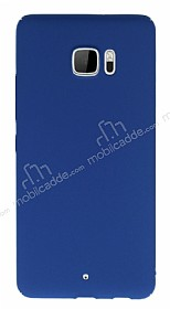 HTC U Ultra Tam Kenar Koruma Lacivert Rubber Kılıf