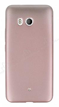 HTC U11 Mat Rose Gold Silikon Kılıf