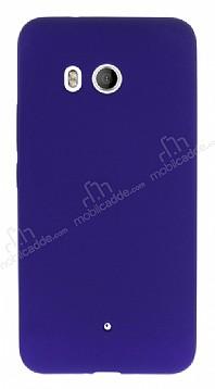 HTC U11 Mat Mor Silikon Kılıf