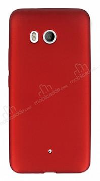 HTC U11 Mat Kırmızı Silikon Kılıf