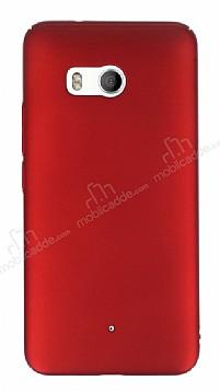 HTC U11 Tam Kenar Koruma Kırmızı Rubber Kılıf