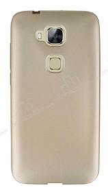 Huawei G8 Mat Gold Silikon Kılıf