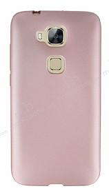 Huawei G8 Mat Rose Gold Silikon Kılıf