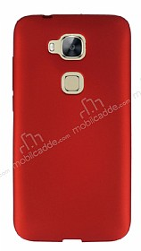 Huawei G8 Mat Kırmızı Silikon Kılıf