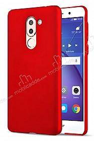 Huawei GR5 2017 Tam Kenar Koruma Kırmızı Rubber Kılıf