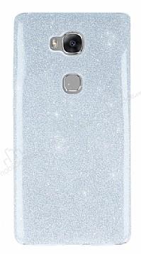 Huawei GR5 Simli Silver Silikon Kılıf