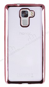 Eiroo Color Fit Huawei Honor 7X Rose Gold Kenarl� �effaf Silikon K�l�f