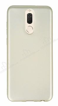Huawei Mate 10 Lite Mat Gold Silikon Kılıf