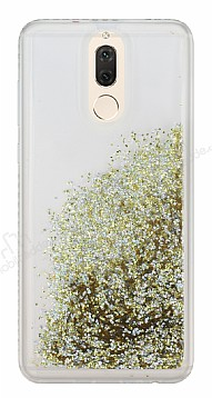 Huawei Mate 10 Lite Simli Sulu Gold Rubber Kılıf