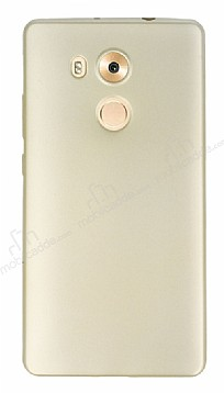 Huawei Mate 8 Mat Gold Silikon Kılıf