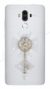 Huawei Mate 9 Taşlı Anahtar Şeffaf Silikon Kılıf