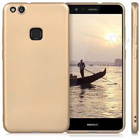 Huawei P10 Lite Mat Gold Silikon Kılıf