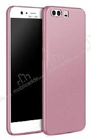 Huawei P10 Mat Rose Gold Silikon Kılıf