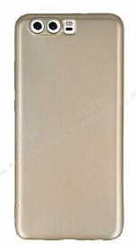Huawei P10 Plus Mat Gold Silikon Kılıf