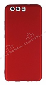 Huawei P10 Plus Mat Kırmızı Silikon Kılıf