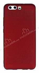 Huawei P10 Plus Noktalı Mat Kırmızı Silikon Kılıf