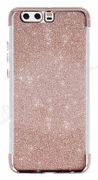 Huawei P10 Plus Simli Rose Gold Silikon Kılıf