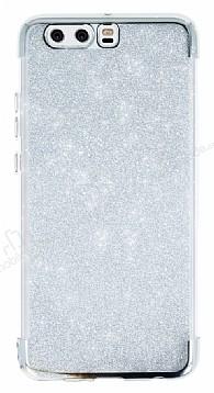 Huawei P10 Plus Simli Silver Silikon Kılıf