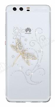Huawei P10 Plus Yusufçuk Taşlı Şeffaf Silikon Kılıf