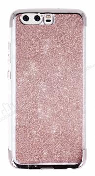Huawei P10 Simli Rose Gold Silikon Kılıf