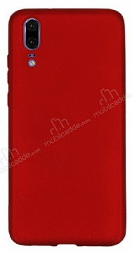 Huawei P20 Mat Kırmızı Silikon Kılıf