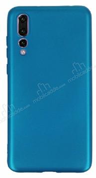 Huawei P20 Pro Mat Mavi Silikon Kılıf